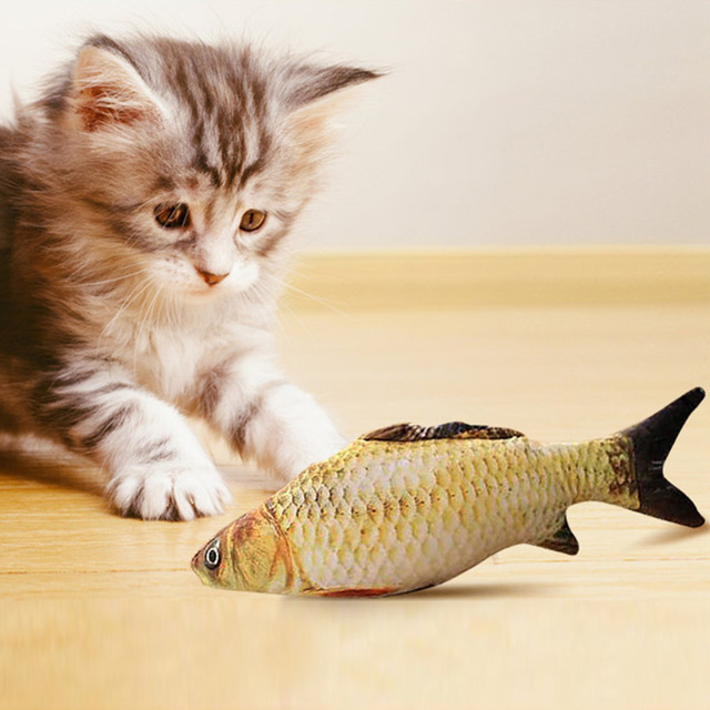 Toy Plush Fish for Cats