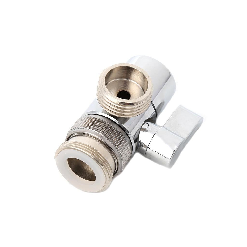bathroom kitchen brass sink valve diverter faucet splitter to hose adapter m22 x m24 in kitchen. Black Bedroom Furniture Sets. Home Design Ideas