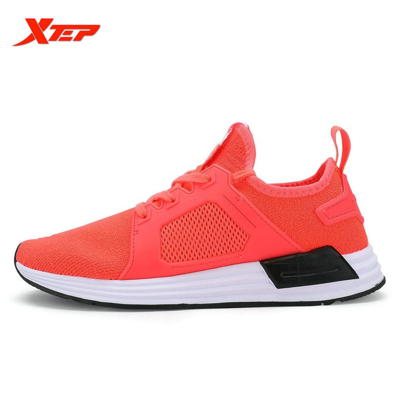 ФОТО XTEP Flyknit Women's Running Shoes Light Training Breathable Anti-Slippery Outdoor Sneakers women Presto Sport Shoes 98311839265