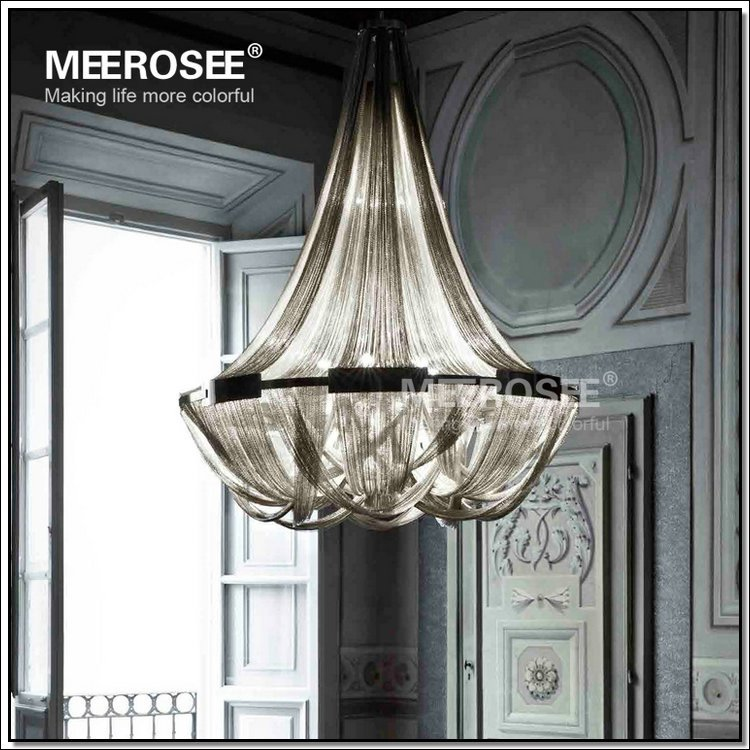 French Empire Chain Chandelier Light Fixture Long Chain Hanging Suspension Lustre Lamp Chain Suspension Light