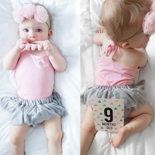 Cute Infant Baby Girls T-shirt Skirt 2PCS Clothes Set ...
