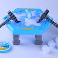קרח שבירה שולחן משחק מלכודת חיסכון פינגווין מצחיק ילדי משחק אינטראקטיבי משפחת פלסטיק בטוח PBTYX אווירה פעילה