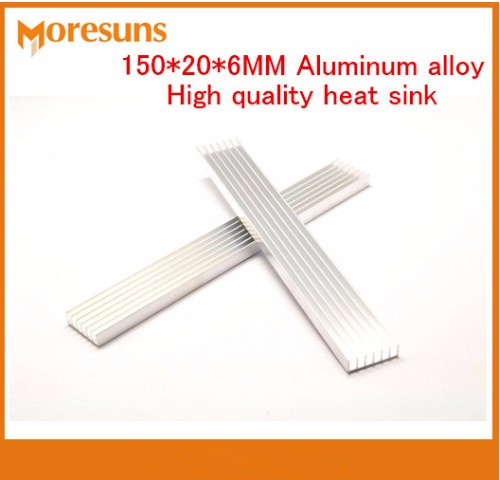 Fast Free Ship Aluminum Radiator Cooling Article 150*20*6MM Aluminum Alloy High Quality Heat Sink Cooler Heat sink Strips