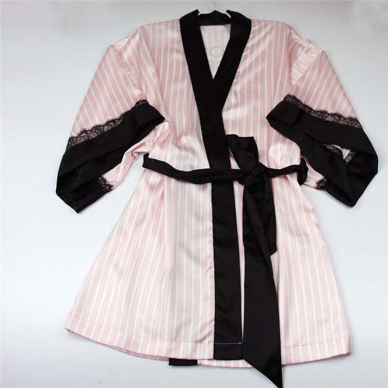 Embroidered Satin Bridal Party Robe