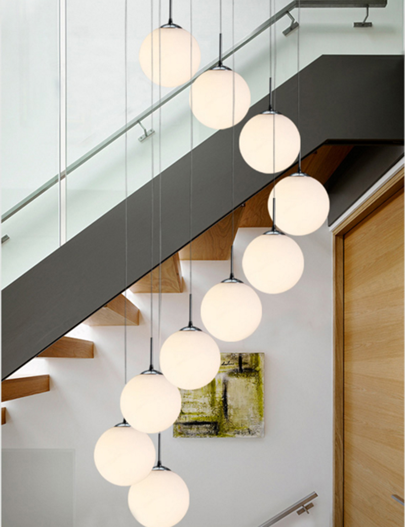 Double staircase Pendant Lights modern modern living room restaurant ...