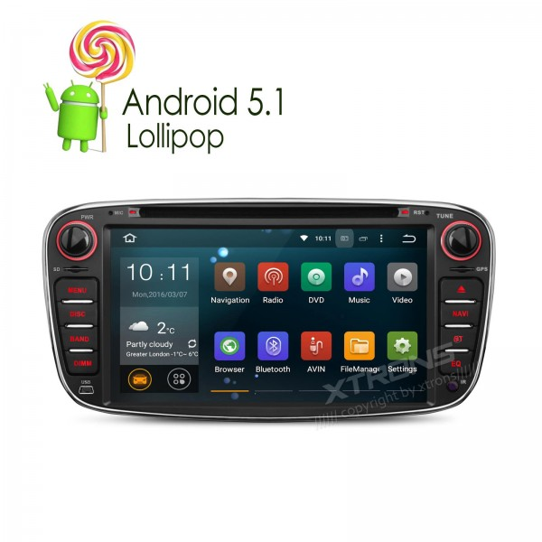 7  Android 5.1 Car dvd player GPS Navigator Video WiFi For Ford Focus Mondeo / S-max / Galaxy Tourneo / Transit Connect 2010