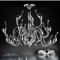 Modern LED Chandelier Swan Light 18 Heads Foyer Led Ceiling Lights Lamp For Living Room Kitchen