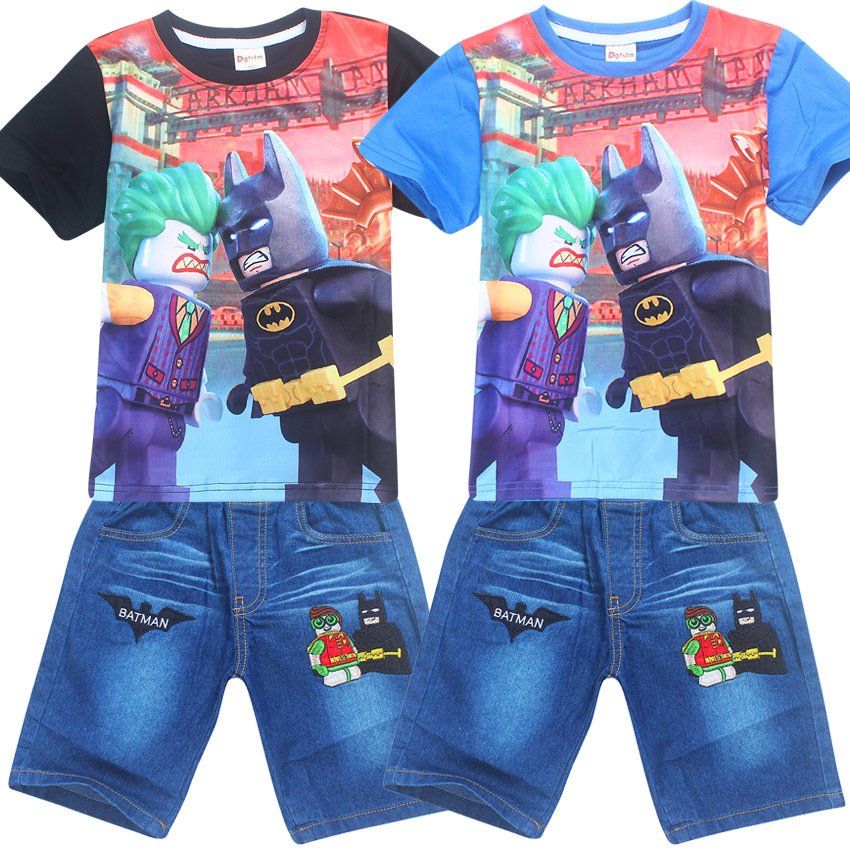 Moana Batman fashion sport suit for boys Clothing Set Cartoon Children clothing t shirt t-shirt shorts 2pcs Kids Summer Clothes 2016 summer style kids clothes boys set t shirt shorts pants 2pc fashion children clothing cotton child suit for wedding costume page 9 page 2 page 6