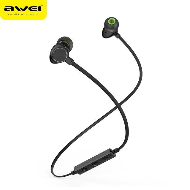 WT30 awei Fone de Ouvido Sem Fio Bluetooth fone de ouvido Anti-Suor CVC Inteligente fones de Ouvido Fones de ouvido Com Cancelamento de Ruído