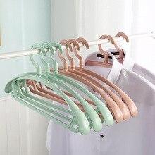 10 pcs/set Anti-Slip Windproof Hanger Multifunction Pant Coat Organizer Plastic Rotatable Hook Home Storage Holder