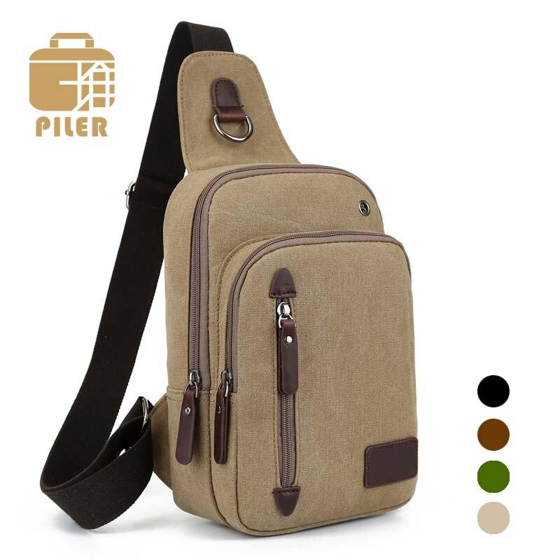Chest Pack Canvas Vintage Shoulder Bags Mens Messenger Bags Classic Crossbody Shoulder Bag