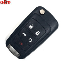 HKOBDII Flip Remote Car Key 5 Buttons 315MHz with ID46 Electronic Chip For Chevrolet