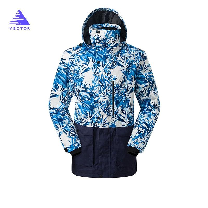 Вектор брендовые зимние лыжные куртки Для мужчин открытый Термальность Водонепроницаемый сноуборд куртки Восхождение Снег Лыжный Спорт О