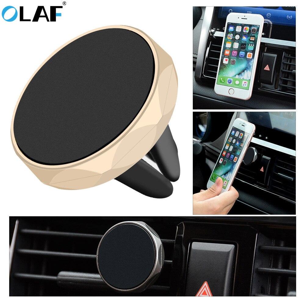 Автомобильный держатель для телефона OLAF, магнитное крепление на вентиляционное отверстие, подставка для мобильного телефона, Магнитная по...