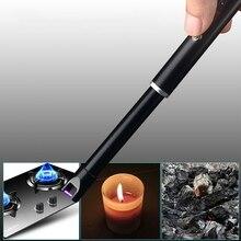 Электронные USB ветрозащитные зажигалки открытая плита для барбекю зажигалка для свечей кухонный горелочный инструмент Зажигалка для свечей кухонный горелочный инструмент