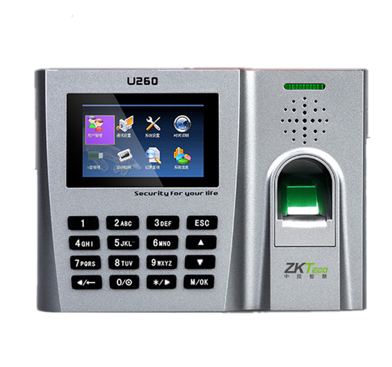 TCP/IP 125Khz RFID Card and Fingerprint Time Attendance System ZK U260 Employee Attendance Terminal With EM Card & Fingerprint high speed zk fingerprint time attendance terminal iclock360 125khz em id card punch card and fingerprint time clock system