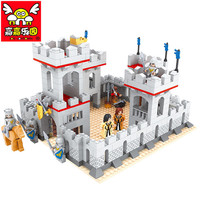 686PCS City Medieval Princess Knights Castle Educational Building Blocks Toys For Children Kids Gifts Horse Weapon