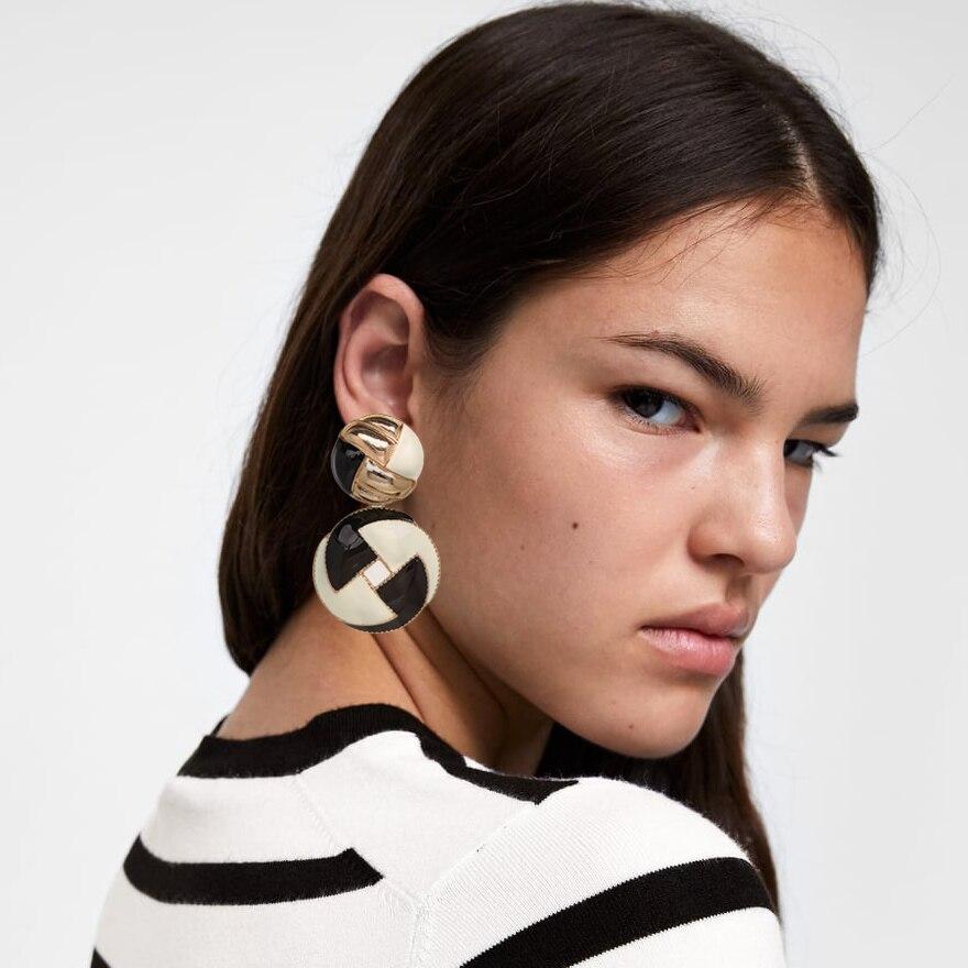 Fashion Alloy Statement Earrings Punk Style Vintage Geometric Trendy Drop Dangle Earrings Women za Jewelry
