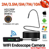 HD720P 8LED 8mm Lens 1M Snake USB Flexible Hard Wire WIFI Iphone Endodoscope Camera Android USB