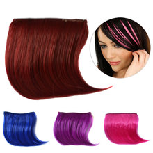 1Pcs color wig piece fake bangs bleaching oblique no trace
