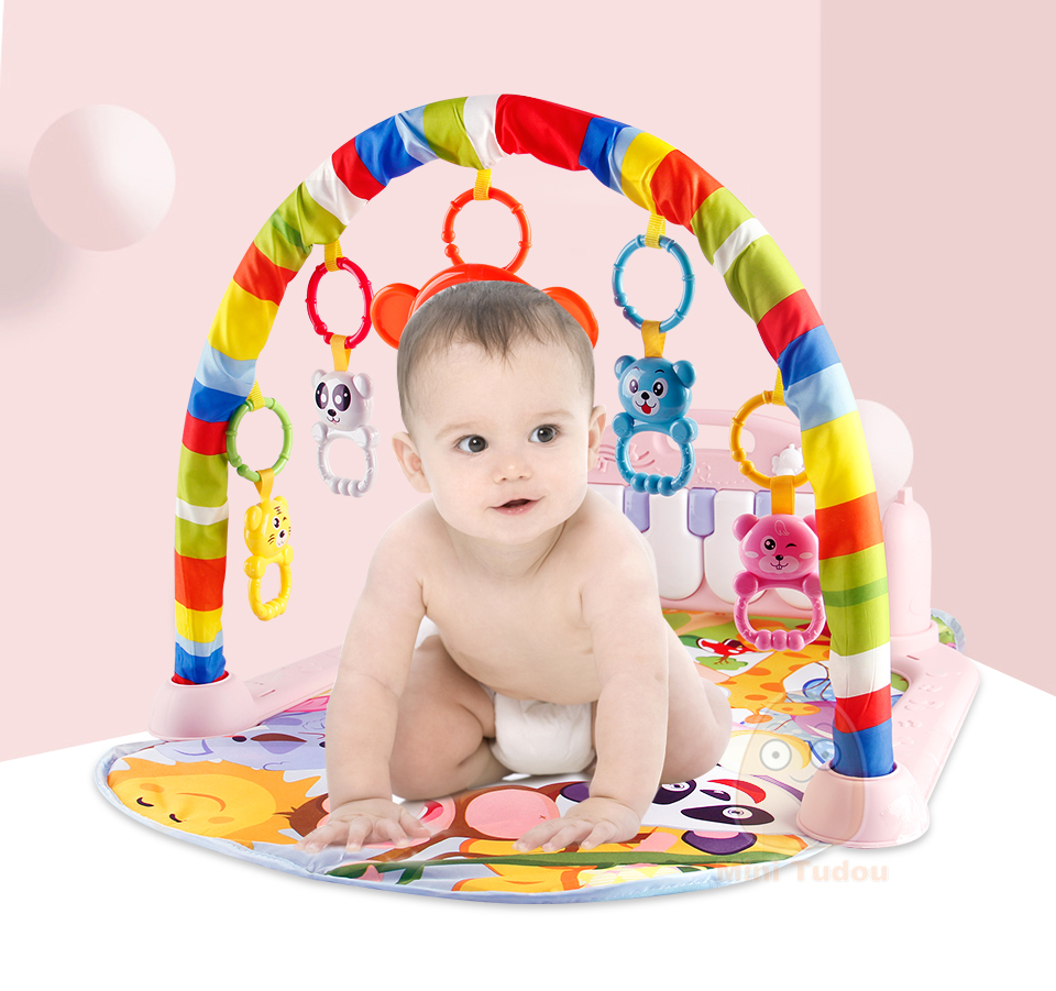 HTB1oRoLbjzuK1RjSspeq6ziHVXa5 Baby Gym Tapis Puzzles Mat Educational Rack Toys Baby Music Play Mat With Piano Keyboard Infant Fitness Carpet Gift For Kids
