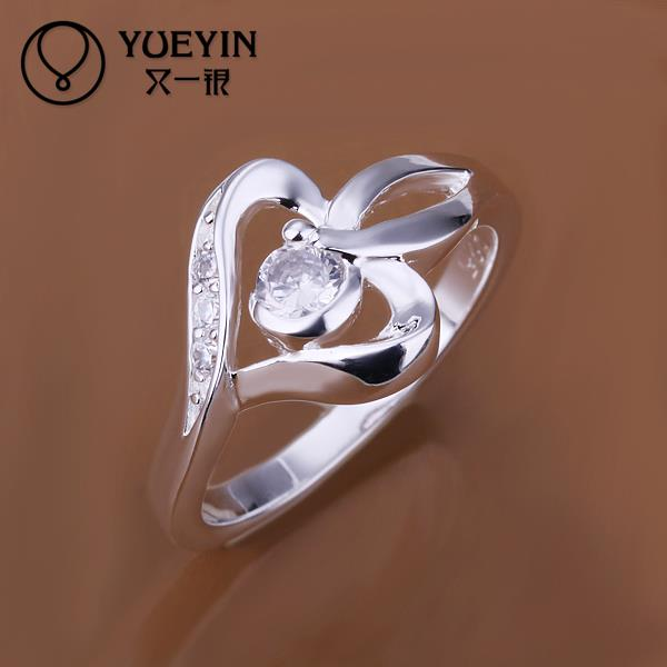 Fashion Rings Ladies Crystal Stone Silver Plated Women/'s 18K Gold Jewellery NEW