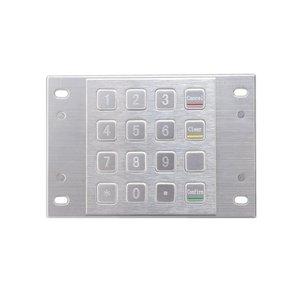 Pin Pad with Waterproof terminal keyboard, Kiosk IP65 mini vandal-proof 16key metal keypad, stainless steel metal numeric keypad(China)