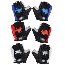 Cycling Gloves Unisex Anti shock Silicone Gloves Bicycle Motorcycle Sport Gel Half Finger Mittens L XL