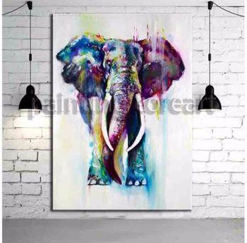 hand painted oil painting on canvas art Popular art Elephant