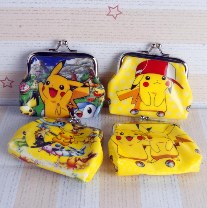 New Coin Purses Women Kids Girls Cartoon Pikachu Portable Wallet Purse Handbag princess money bag christmas gift free shipping