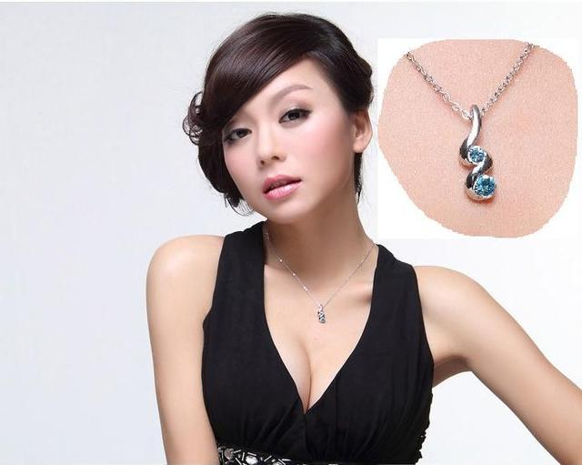 Silver Plated Jewelry Sets of Pendant Necklaces Earring Rings & Bracelets