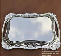 40 30cm Rectangle Metal Serving Tray Silver Tray Decorative Serving Trays Decorative Fruit Bowl Home Decorative