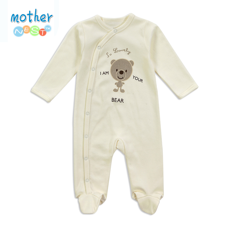 2016 Baby Clothes Little Bear Cute Baby Rompers Cotton Bebe Body Ropa Long Sleeve Infant Boys Girls Spring Summer Jumpsuit