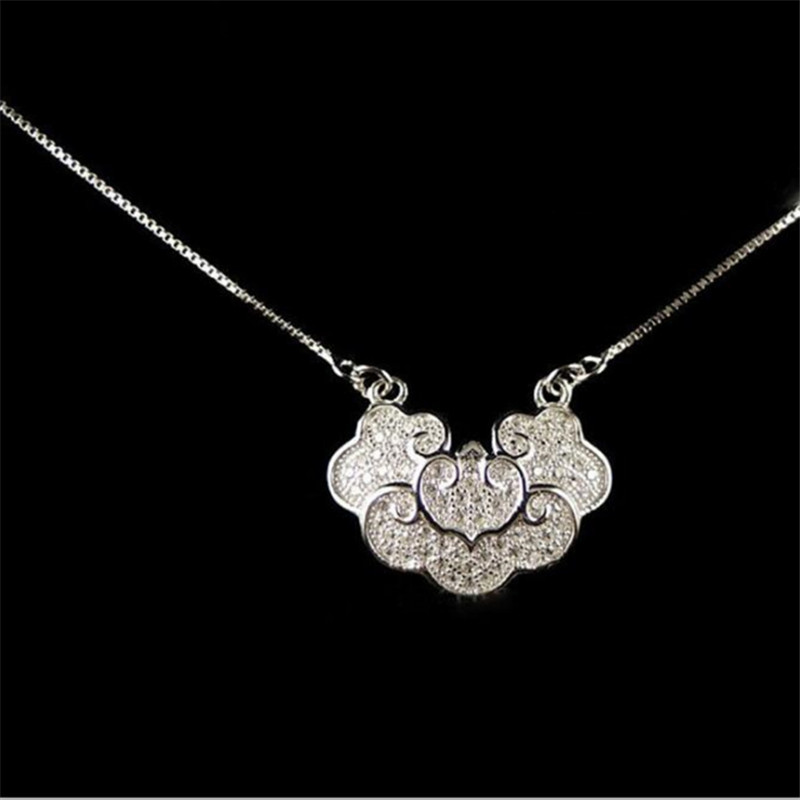 Jewelry & Accessories Sporting Real Pure 925 Silver Pendant For Women Longevity Lock With Natural Red Garnet Personalized Thai Silver Fine Jewelry