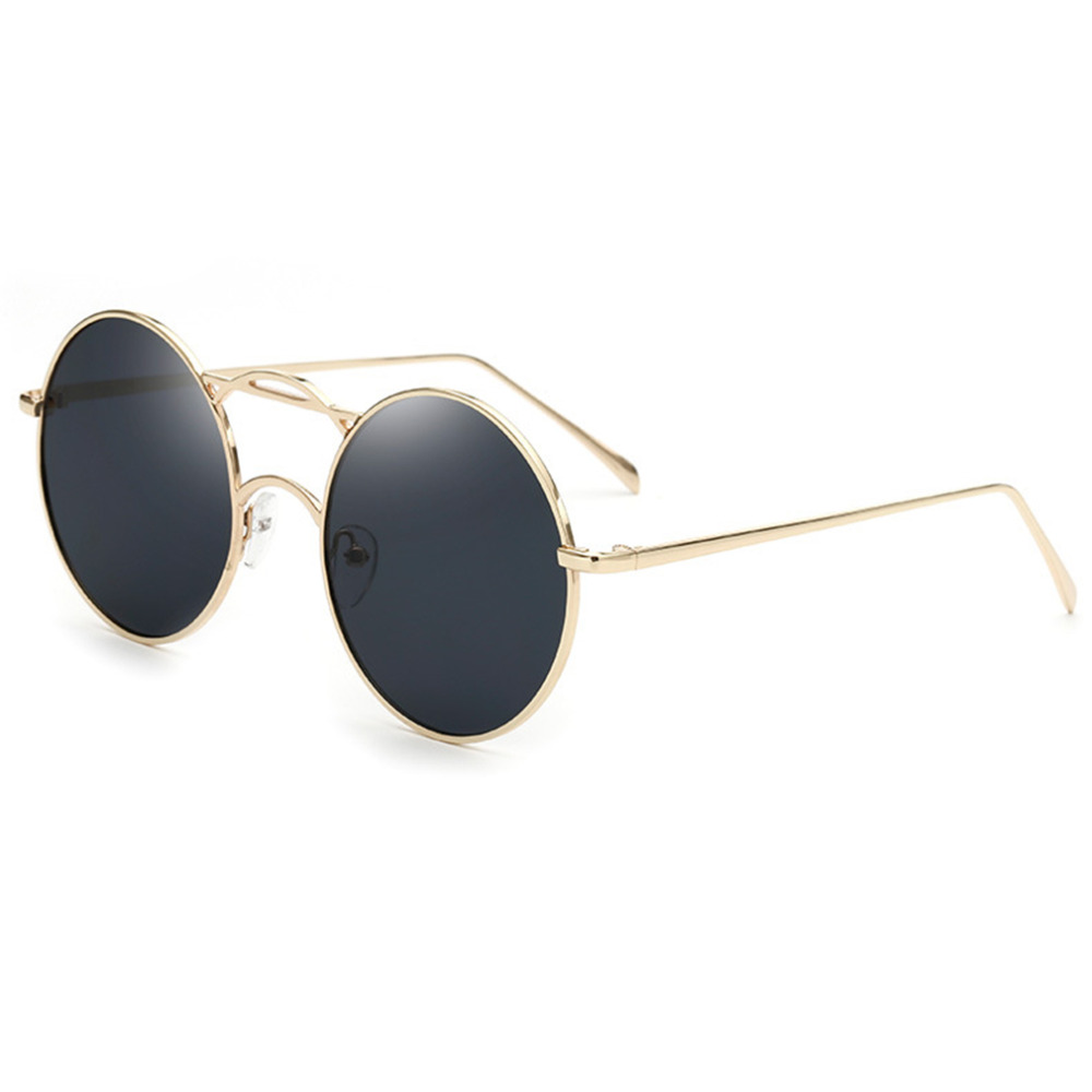 2017 New Fashion Vintage Round Frame Design Retro Ultraviolet-proof Sun Glasses Men Women Modern Stylish Eye Protection Sunglass