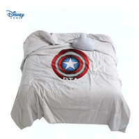 Captain America thin comforter single twin full queen size 3d the avengers summer quilt boy teens adult room decor thorw blanket