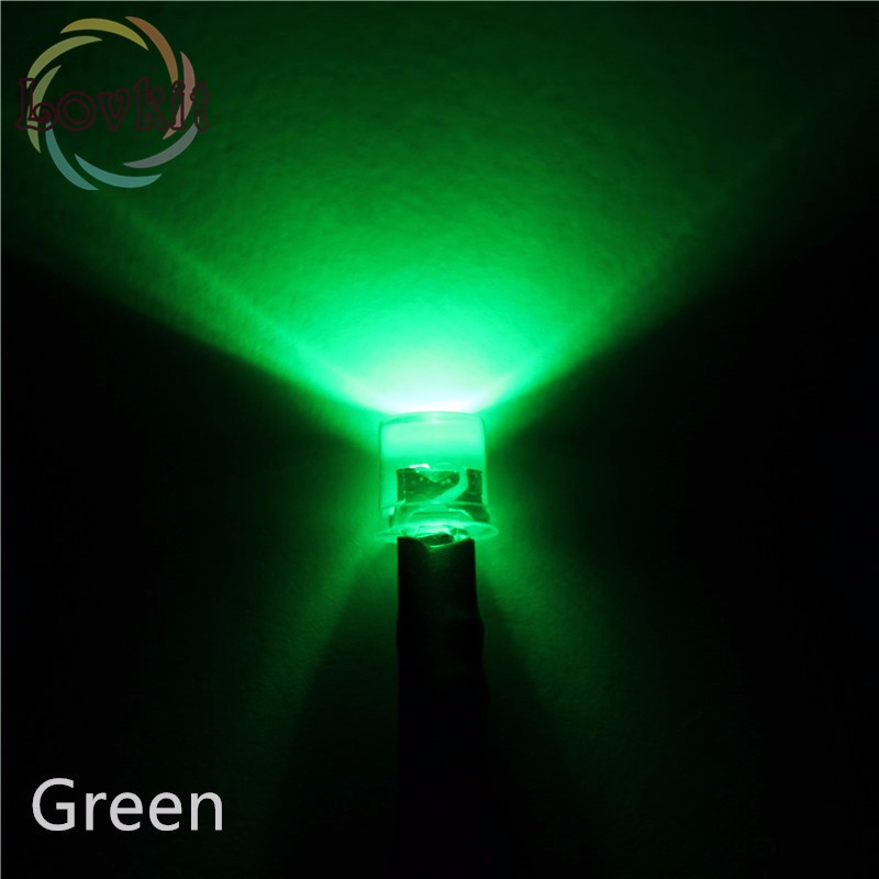 DC 12V 20mA 8mm Emerald Green Pre-Wired Round Lamp 2pcs Prewired LED Light