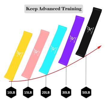 17Pcs Resistance Bands Set Yoga Exercise Fitness Band Rubber Loop Tube Bands Gym Door Anchor Ankle Straps with Bag Elastic Band 1