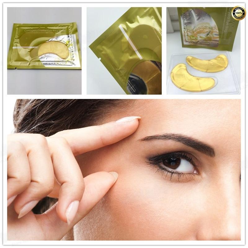 Eyes Masks Skin Care 2PCS Golden Pearl Gel Mask Collagen Crystal Eye Mask Patch Dark circle Eyelid Anti-Wrinkle Moisture