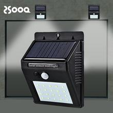 20LEDs Solar Lamp Motion Sensor Emergency Rechargeable Garden Light Fence Yard Garage Stair Wall Outdoor Waterproof CSL024