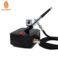 Colopaint 0.3mm Nozzle 7CC Makeup Airbrush System Kit For Nail Art Makeup Body Paint 100 240V