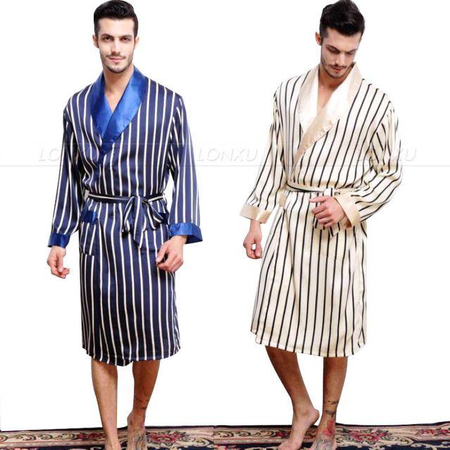Mens Silk Satin Pajamas Pajama Pyjamas PJS Sleepwear Robe Robes Nightgown  Robes S M L XL 2XL 3XL f328d7e29