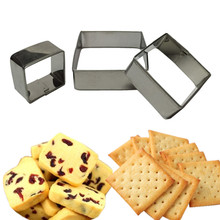 3PCS/SET Square Shape Mold Sugarcraft Biscuit Cookie Tool Cake Pastry Baking Cutter Mould Tool For Cakes
