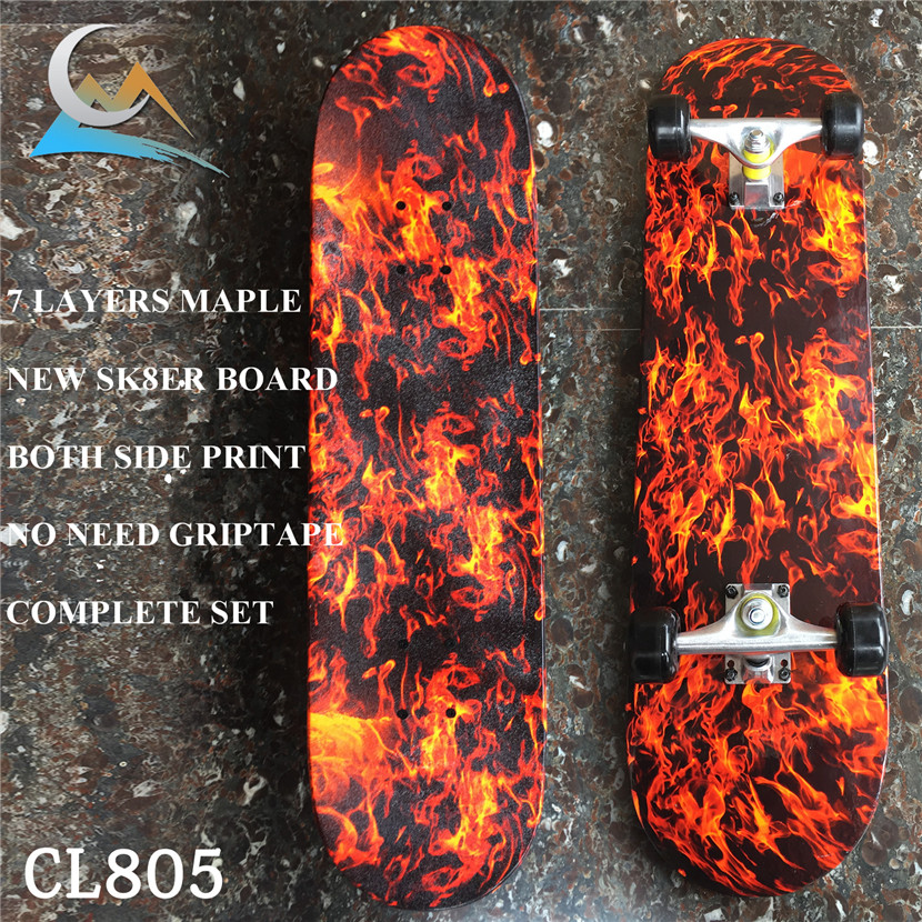 Не-PRO 31*8 дюймов, полный Скейтбординг с пожарной колоды колеса грузовика и подшипники для скейтборта, полный комплект с умеренной цене