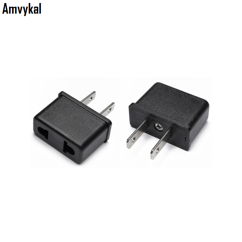 Amvykal EU To US Plug Adapter Converter USA Universal Travel AC Power Electrical Plug Adaptador Socket Convert 500 Pcs/lot