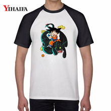 Cartoon 3D Men Women T Shirts Dragon Ball Z Saiyan Goku Kid Graphic Tees White Anime Tee Tops Unisex Round Neck t shirt men women t shirts cartoon 3d dragon ball z geometric saiyan goku kid graphic tees white anime tee tops unisex t shirt