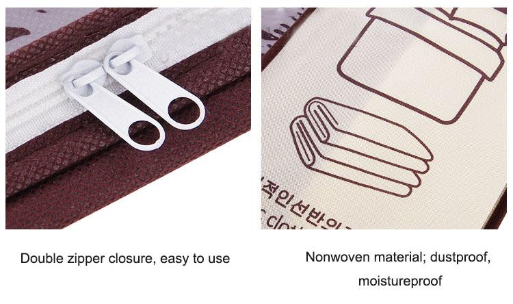 2018 new Non-woven Portable Clothes Storage Bag Organizer 45.5*51*29cm Folding Closet Organizer For Pillow Quilt Blanket Bedding 21