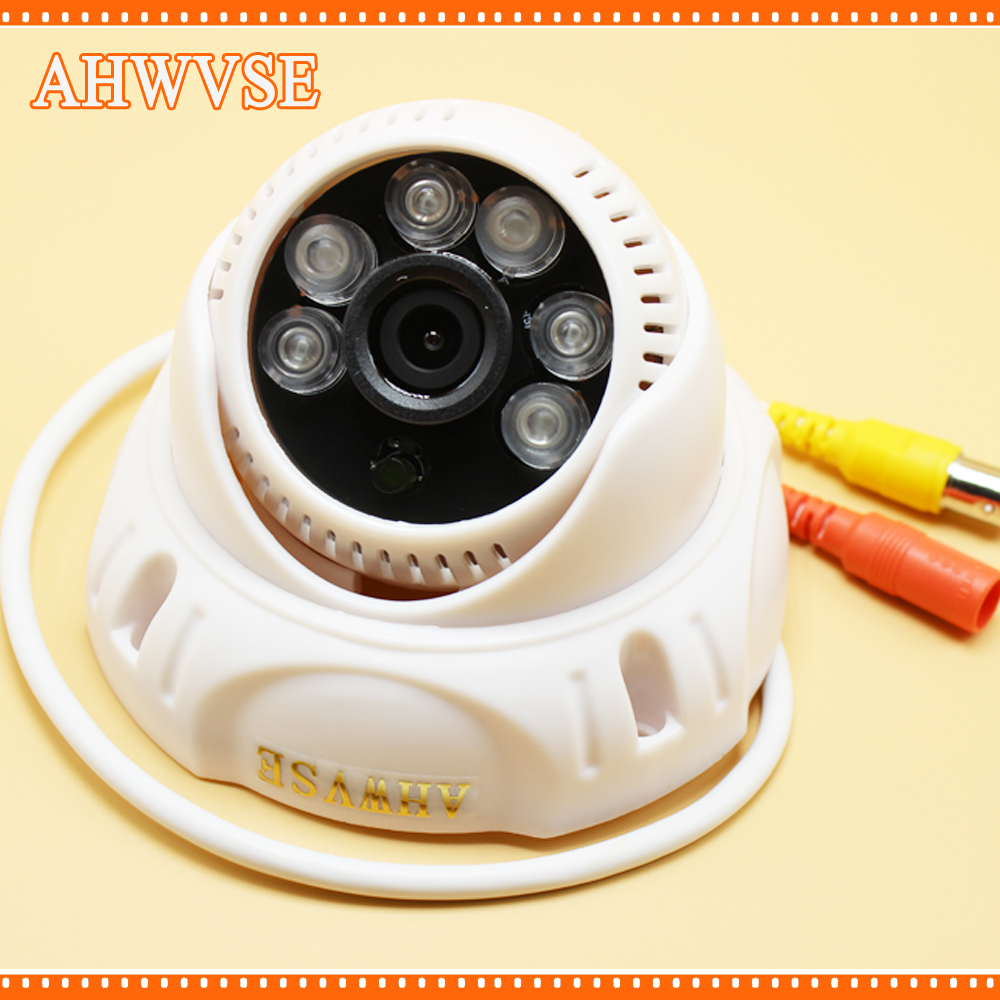 AHWVSE Wide Angle 3.6MM AHD 1080P IR Dome Video Surveillance Camera with 6pcs White IR LEDs Mini Cam 960P 720P
