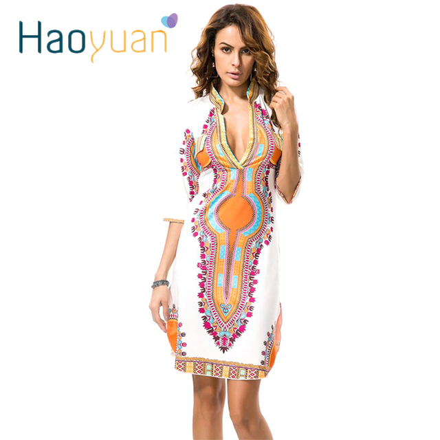 a9c027813ff 2018 New Summer Dashiki Dress African Tranditional Print Vintage Ladies  Dresses Folk African Plus Size Women Clothing Vestidos