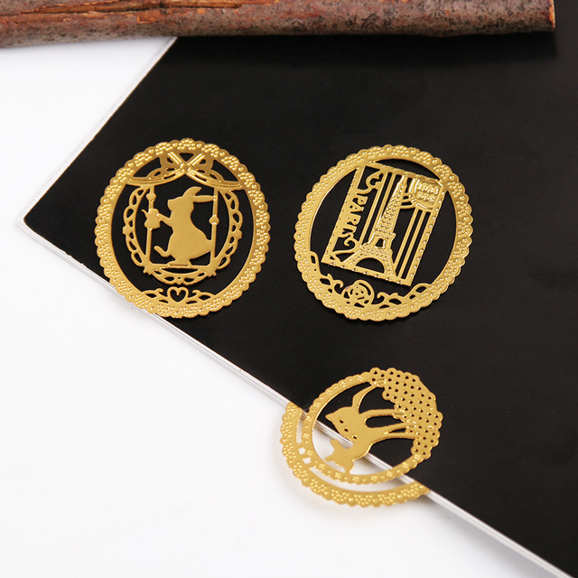 Cute Gold Metal Bookmark